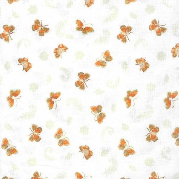 WHT Daphne's Butterflies on White Fabric to sew - QuiltGirls®
