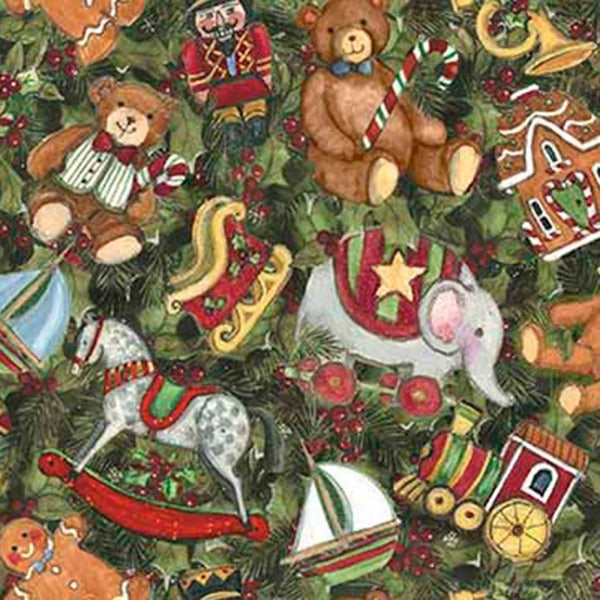 Christmas Toys and Holly Packed Fabric to Sew - QuiltGirls®