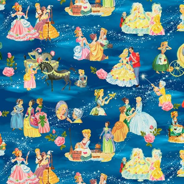 Vintage Storybook Cinderella's Tale Fabric to Sew