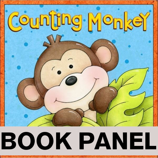 Counting Monkey Fabric Book Panel to Sew