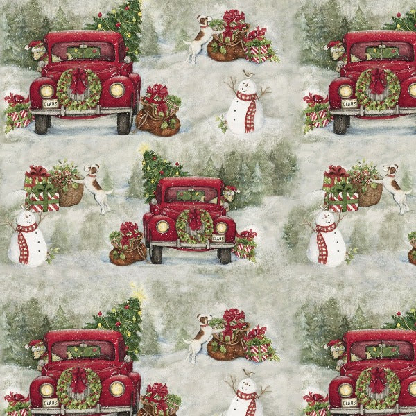 Christmas Country Drive Fabric to Sew
