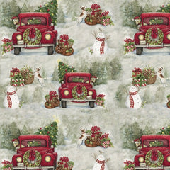Christmas Country Drive Fabric to Sew - QuiltGirls®