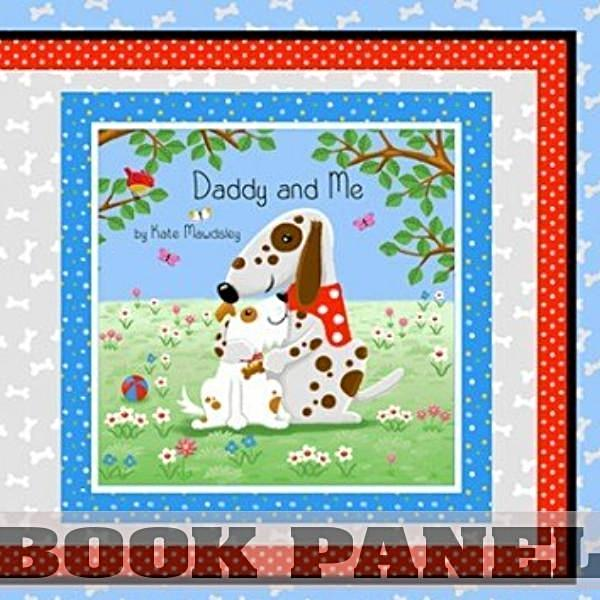 Daddy and Me Fabric Book Panel to Sew