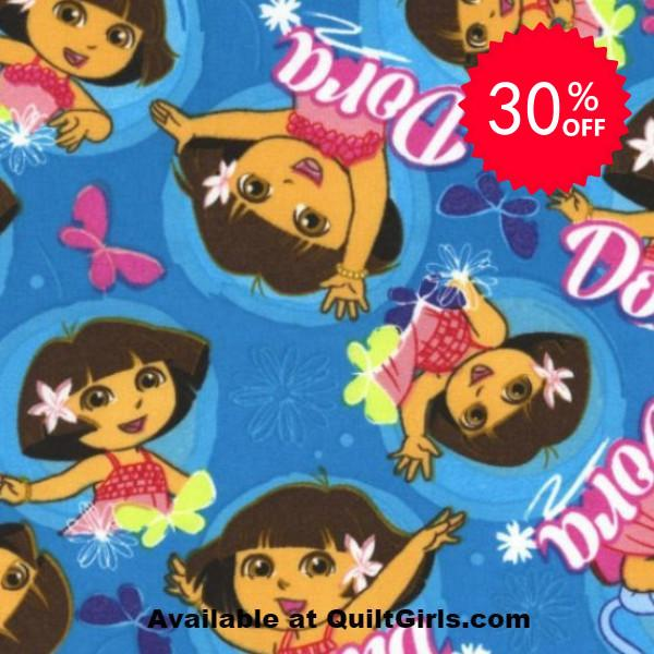 Dancing Dora Fabric to sew