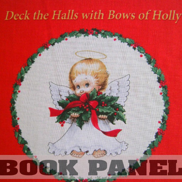 Deck the Halls with Bows of Holly Fabric Book Panel to Sew