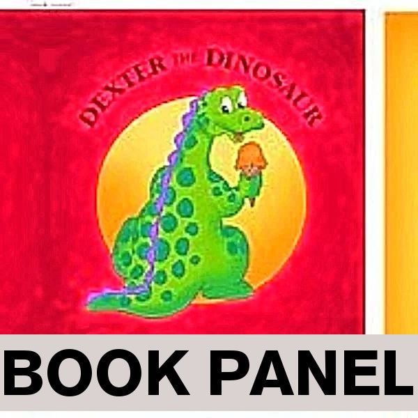 Dexter The Dinosaur's All About Shapes Fabric Book Panel to sew