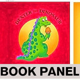 Dexter The Dinosaur's All About Shapes Fabric Book Panel to sew - QuiltGirls®
