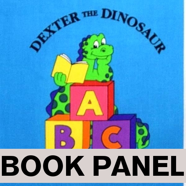 Dexter The Dinosaur's ABC Fabric Book Panel to sew