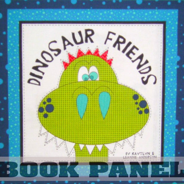 Dinosaur Friends Fabric Book Panel to Sew