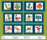 Dinosaur Friends Fabric Book Panel to Sew - QuiltGirls®