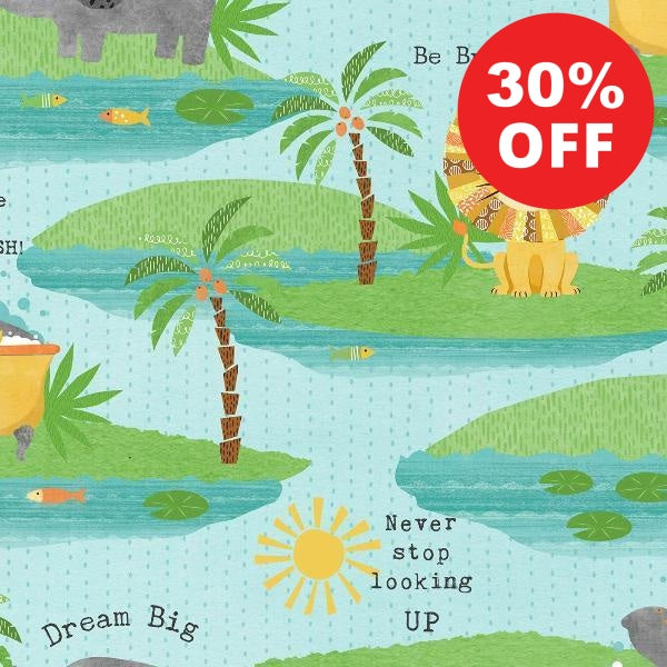 Dream Big Scenic on Blue Fabric to Sew - QuiltGirls®