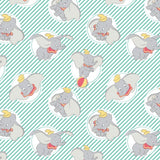 Dumbo Stripe Turquoise Fabric to sew - QuiltGirls®