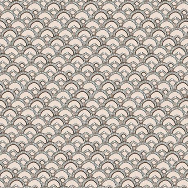 GRY Winter Garden Scalloped  Light Gray Fabric to sew