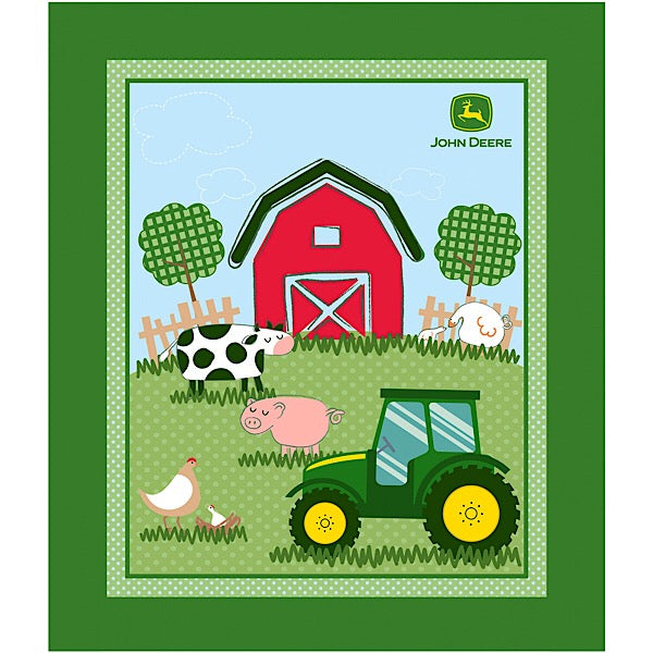 John Deere Barn Yard Quilt Panel to sew