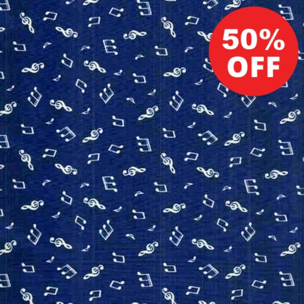 BLU Days Gone By Music Notes Fabric to sew - QuiltGirls®