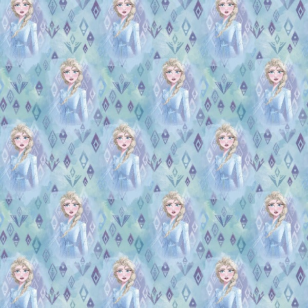 "(Remnant 18"") Frozen Elsa in Crystals Fabric to Sew"
