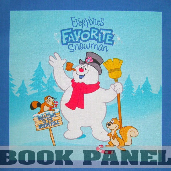 Everyone's Favorite Snowman Fabric Book Panel to Sew