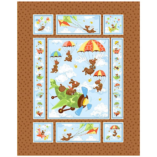 Susybee's Zig the Flying Ace Quilt Panel to sew - QuiltGirls®
