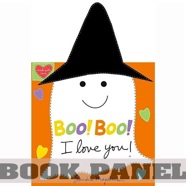 Boo! Boo! I Love You Fabric Book Panel to sew - QuiltGirls®