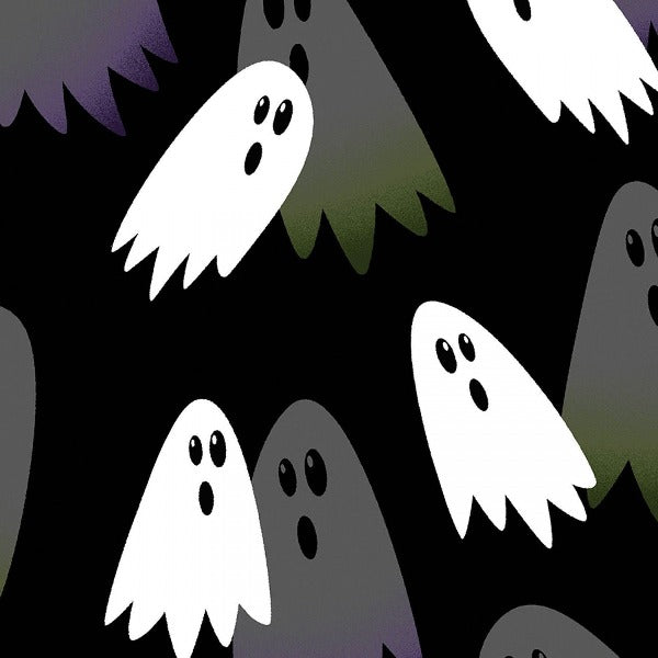 Ghostly Glow Black Fabric to sew