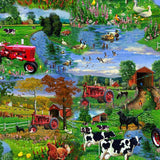 Farmall Tractor Scenic Fabric to sew - QuiltGirls®