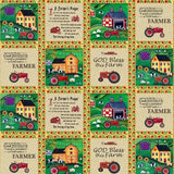Farmall Folk Art Patch Work Fabric to sew - QuiltGirls®
