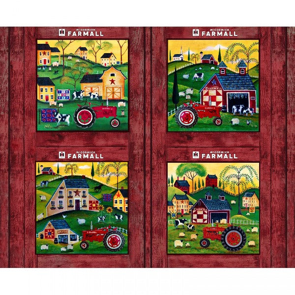 Farmall Folk Art Pillow Panel to sew - QuiltGirls®