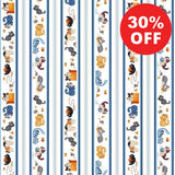 Feline Friends Stripe Fabric to sew - QuiltGirls®