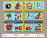 Five Alarm Fire Fabric Book Panel to Sew - QuiltGirls®