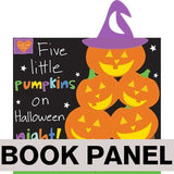Five Little Pumpkins Fabric Book Panel to sew - QuiltGirls®