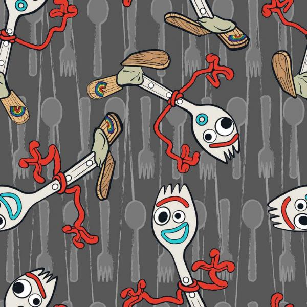 Toy Story 4, Forky Utensil Toss Fabric to sew - QuiltGirls®