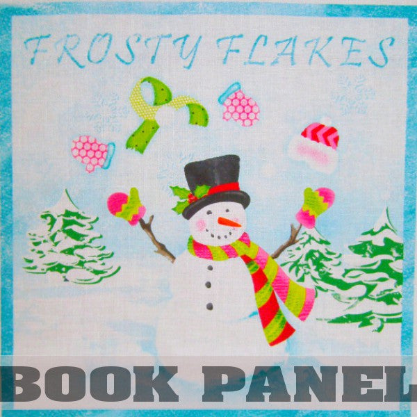 Frosty Flakes Fabric Book Panel to Sew