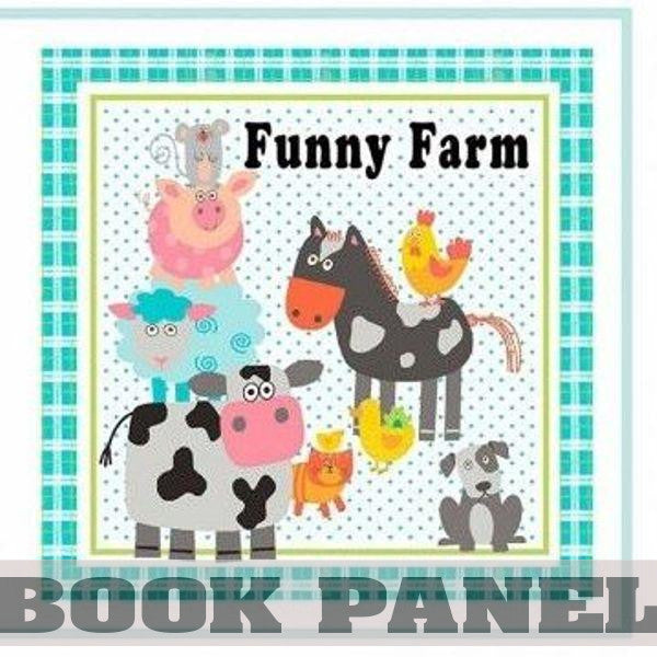Funny Farm Fabric Book Panel to Sew