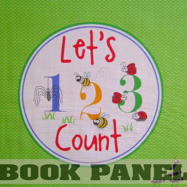 Garden Critters, Let's Count 123 Fabric Book Panel to Sew