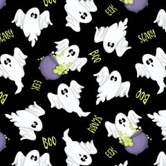 A Haunting We Will Glow Ghost Fabric to sew - QuiltGirls®