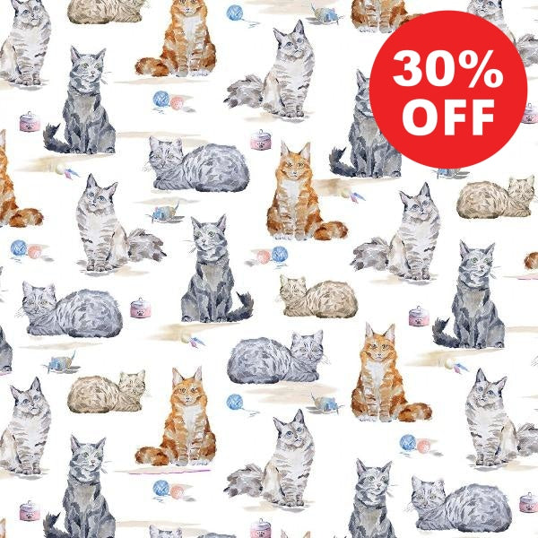 Precious Cats are Good Fabric to sew - QuiltGirls®