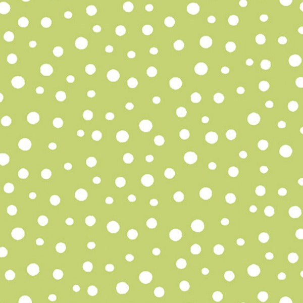 GRN Susybee's Green Dots Fabric to sew - QuiltGirls®