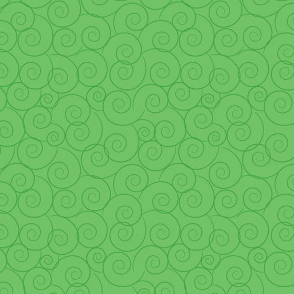 GRN Harmony Tonals Linda's Scrolls Green Fabric to sew - QuiltGirls®