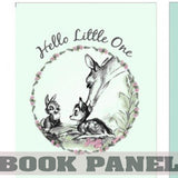 Hello Little One, Bambi Fabric Book Panel to Sew - QuiltGirls®