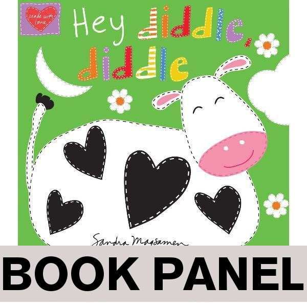 Hey Diddle Diddle Fabric Book Panel to sew - QuiltGirls®