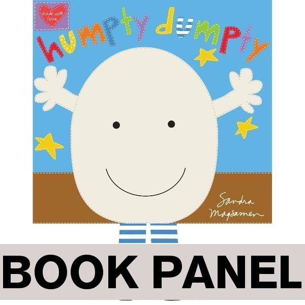 Humpty Dumpty Sat on a Wall Fabric Book Panel to sew - QuiltGirls®