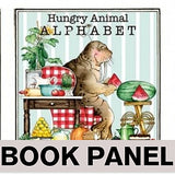 Hungry Animal Alphabet Animal Fabric Book Panel to Sew - QuiltGirls®