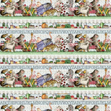 Hungry Animal Alphabet Stripe Fabric to Sew - QuiltGirls®