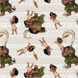 Moana and Friends Fabric to sew - QuiltGirls®
