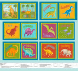 Dino Party Fabric Book Panel to Sew - QuiltGirls®