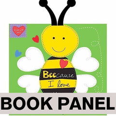 Bee-cause I Love You Fabric Book Panel to sew - QuiltGirls®