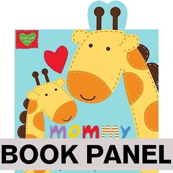 Mommy and Me Fabric Book Panel to sew - QuiltGirls®