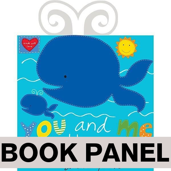 You and Me by the Sea Fabric Book Panel to sew