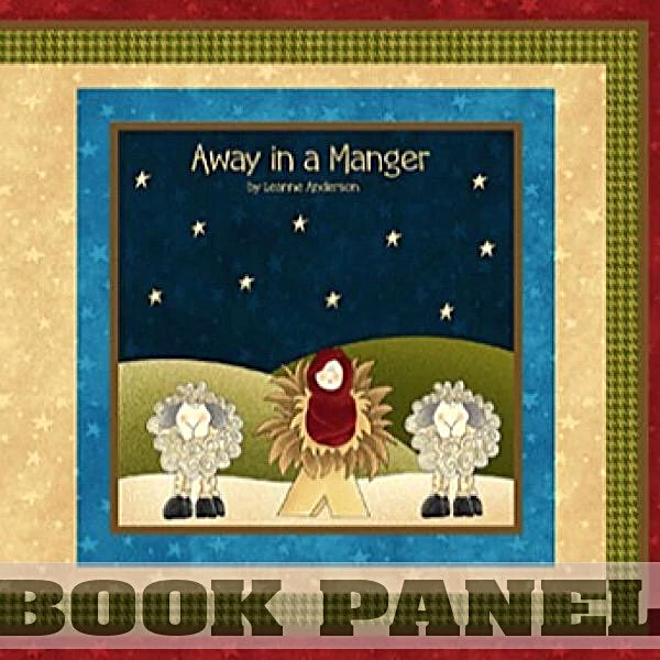 Away in a Manger Fabric Book Panel to Sew