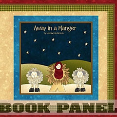 Away in a Manger Fabric Book Panel to Sew - QuiltGirls®